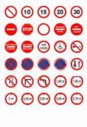 Panneaux de signalisation routière en adhésif - 4 formats disponibles