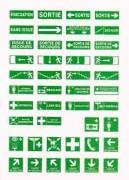 Panneaux de signalisation sécurité en adhésif - Panneaux en PS Choc et adhésif