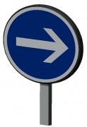 Panneau de signalisation temporaire - Panneaux B21 et BK21 indexables