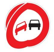 Panneau de signalisation temporaire d'interdiction de dépasser à volet mobile BK - Dimensions : de 650 à 1250 mm - Norme NF - Type BK