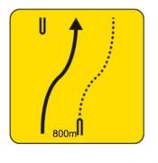 Panneaux de signalisation temporaire de direction KD9 - Dimensions (mm) : de 700 à 1050 - Norme NF - Type KD