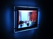 Panneaux lumineux LED crystal ultra - Panneaux lumineux très design encadrés de cristal à reflet ultraviolet