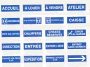 Panneaux signalétique extérieure en PS Choc - Signalétique extérieure et intérieure