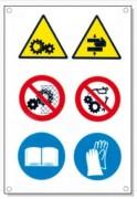 Panneaux signalétique multisymboles - Pictogramme