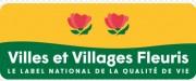 Panneau villes et villages fleuris - Panneau affichant le label des villes-villages fleuris