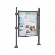 Panneaux-vitrines d'information H1600 x 1200mm - modules initiaux - Dimensions disponibles ( H x l) mm : De 1600 x 1200 - avec bandeau-titre
