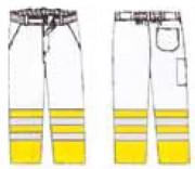 Pantalon bicolore haute visibilité personnalisable - 50 couleurs de fond sur demande