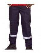 Pantalon de sécurité incendie - Bandes rétro-réfléchissantes en bas de jambe