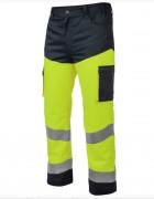 Pantalon de travail jaune fluo - Double couture - Multiples poches