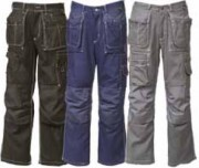 Pantalon multipoches pour homme - Matière : Coton - Tailles : S à 2XL (44 à 62)