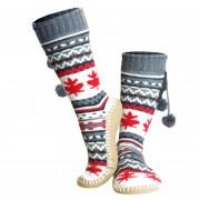 Pantoufles chauffantes - 1 paire de chaussettes, 2 batteries, 1 chargeur, 1 notice