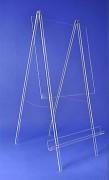 Paperboard plexi - Pieds pliables de 200 cm de long - Largeur 100 cm