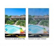 Papier spécial rétro éclairage Backlight - Dimensions disponibles (cm) : 210 x 297 - 297 x 420