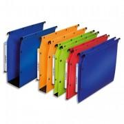 Paquet de 10 dossiers suspendus polypro ULTIMATE fond 50 bleu pour armoire - L'Oblique AZ