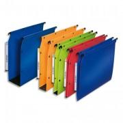 Paquet de 10 Dossiers suspendus polypro ULTIMATE fond 80 grande capacité bleu pour armoire - L'Oblique AZ