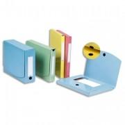 Paquet de 10 pochettes velcro dos 50 mm bleu - OAZ