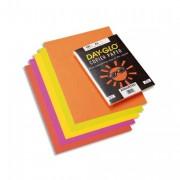Paquet de 100 feuilles papier couleur DAY GLO copieur, laser 100 grammes format A3 fluo assortis - Rey