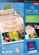 Paquet de 200 feuilles papier photo laser couleur 120g brillant A4 - Avery