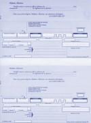 Paquet de 200 lettres de change A4 100f 2 traites prédécoupées + bordereaux pré-imprimé - LEBON & VERNAY