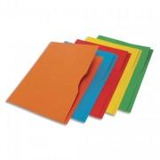Paquet de 25 pochettes-coin à encoche en carton 170g. Coloris assortis teintes vives. - Rainex