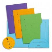 Paquet de 25 sous dossiers 2 rabats HV vert tilleul, kraft 240g - L'Oblique AZ