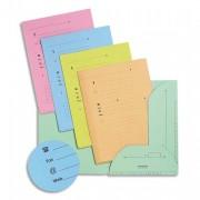 Paquet de 25 sous-dossiers 2 rabats kraft 240gr coloris assortis pastel - L'Oblique AZ