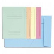 Paquet de 50 chemises 3 rabats avec cadre d'indexage Jura 250 couleurs assorties - Exacompta