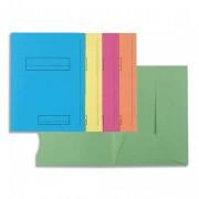 Paquet de 50 chemises à rabat latéral et cadre d indexage. Carte peau 160g coloris assortis 335 - Exacompta