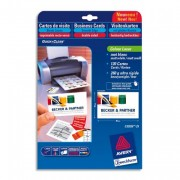 Paquet de 75 cartes de correspondance mate laser 220g format 210x99mm Quick&Clean - Avery
