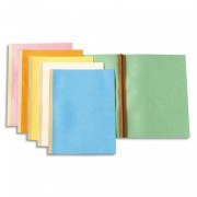 Paquet de chemises à dos toilé, carte 300 grammes coloris bleu - Exacompta