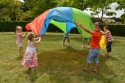 Parachute avec poignets - Diamètre : 3,5 m et 6 m - Matière : Nylon