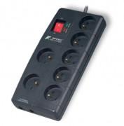 Parafoudre 7 prises avec interrupteur - 7 prises FR avec protection parafoudre