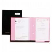 Parapheur Double Clip® 20 compartiments noir, couverture plastifiée, double clip de maintien - Emey