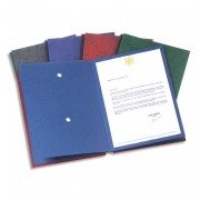 Parapheur Signature 24 compartiments anthracite, couverture pelliculée imprimée - Elba