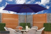 Parasol de jardin moderne - Toile en polyester ou polycoton