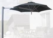 Parasol fixation sur pilier - Armature en aluminium anodisé.