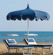 Parasol géant pour plage avec volants - Diamètre : 220 à 240 cm