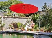 Parasol pied déporté - Rond, carré ou rectangulaire - Jusqu'à 9,6 m²