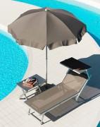 Parasol pour piscine à volants - Diamètre : 180 à 200 cm