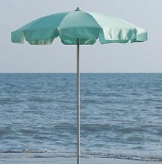 Parasol pour plage à volants - Diamètre : 180 à 240 cm