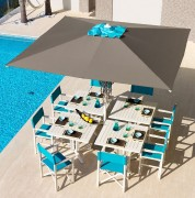 Parasol pour terrasse - Dimensions (L x l) : 200 x 200 cm à 300 x 400 cm ou Rond (diamètre) 300 cm