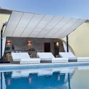 Parasol store à toile rétractable - Toile rétractable et orientable