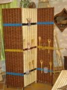 Paravent en osier - Dimensions panneau :150 x 40 cm
