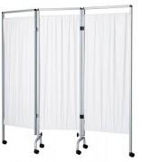 Paravent médical 3 panneaux - Toile en plastique blanc