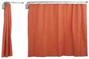 Paravent médical mural téléscopique aluminium - Hauteur rideau : 180cm - Bras télescopique : 85 à 120 cm