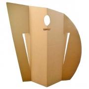 Paravent Won en Carton - Monté : 136.00 x 176.00 x 33.00 cm