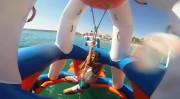 Parc aquatique gonflable 55 personnes - Dimensions : L 21 m x l 21 m