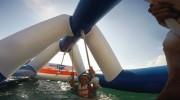 Parc de jeux gonflable aquatique 55 personnes - Dimensions : L 21 m x l 21 m
