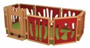 Parc pour bébé en bois - Dimensions (L x P x H) cm : 240 x 128 x 84