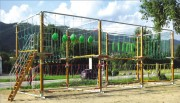 Parcours acrobatique démontable - Parcours de 87 m avec 13 ateliers
